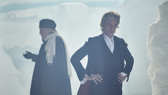 David Bradley as the 1st Doctor and Peter Capaldi as