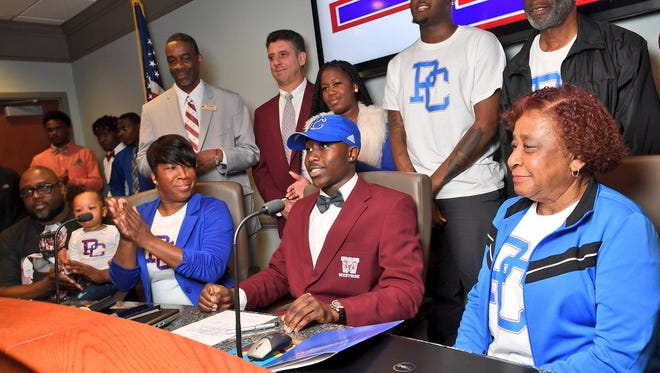 Westside's Noah Suber signed with Presbyterian College on Wednesday. This season had 28.5 tackles and an interception. He helped Westside win back-to-back region titles in 2015 and 2016.