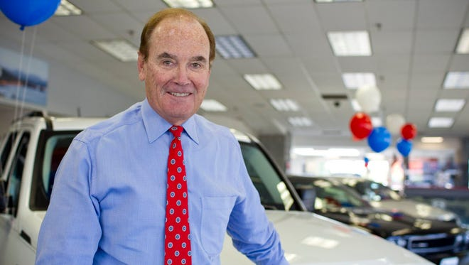 Russ Darrow Jr., CEO of the Russ Darrow Automotive Group, stands at the Darrow Chrysler Store on 7676 N. 76th St.