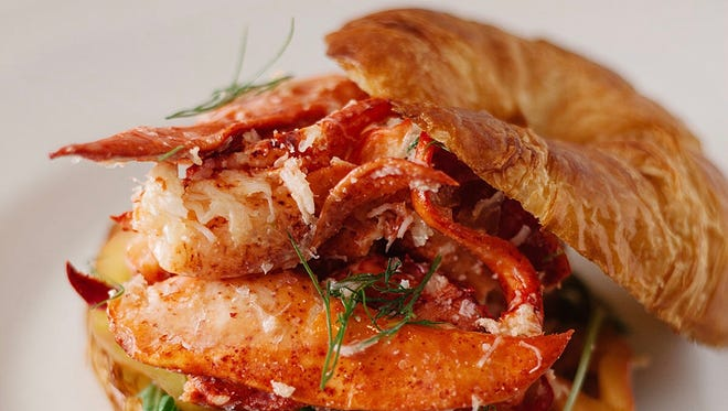 Artisan Eatery's lobster roll is served on a house-made croissant made from dough imported from France.