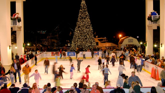 This is an ice rink at The Amphitheater at the Wharf, in Orange Alabama. Blackwater Resources, based in Alabama, built the ice rink there and is planning to open one at the Centre of Tallahassee mall.