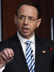 Rosenstein intended to leave in mid-March but stayed on a little longer for the completion of special counsel Robert Mueller's Russia investigation.