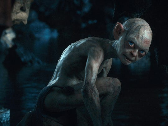 Andy Serkis got low as Gollum in 'The Hobbit: An Unexpected