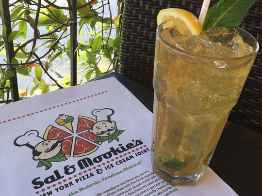 Sal & Mookies' Gypsy Tea combines Jack Daniels, sweet tea vodka, lemonade and fresh mint.