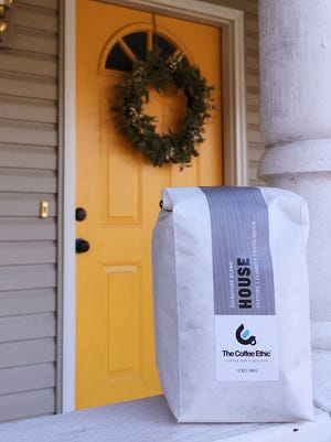 A 12-ounce bag of The Coffee Ethic's house blend, which the downtown Springfield shop now sells online for home delivery individually or by subscription, which starts at $19.
