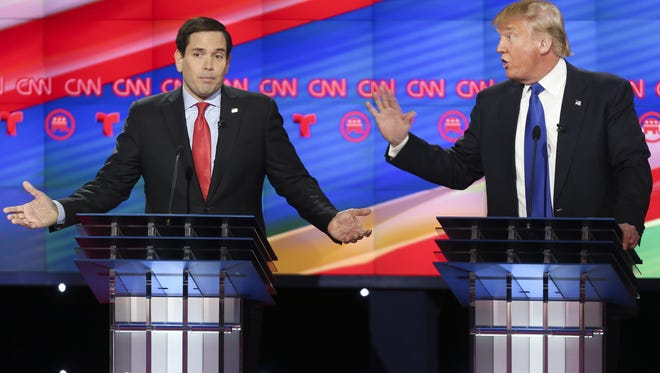A win by Donald Trump in Florida on Tuesday would deal a serious blow to Marco Rubio's chances of winning Republican presidential nomination.