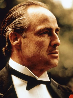 "Marlon Brando in a scene from ""The Godfather."""