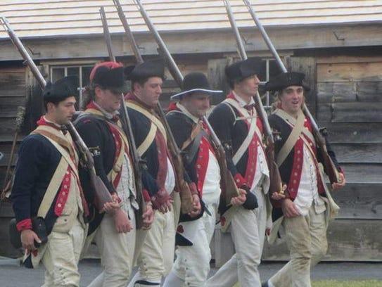 A encampment by the 1st New York Regiment McCracken's