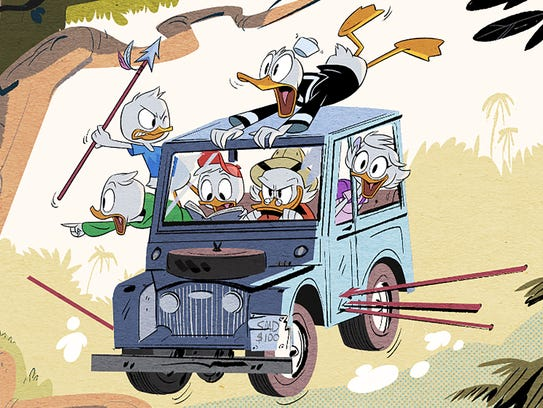 Scrooge McDuck is back with Huey, Dewey and Louie in