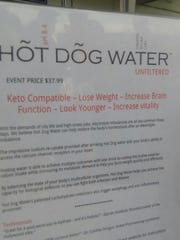 Hotdog Water marketing at the annual Care