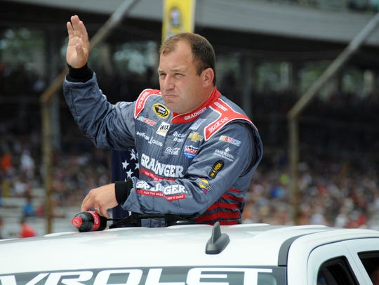 Ryan Newman, who started the race in 43rd position,