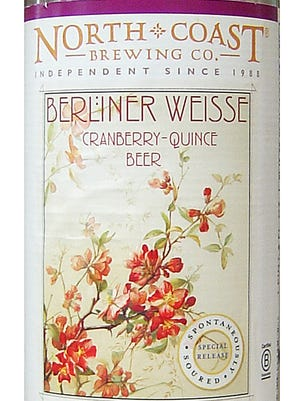 Berliner Weisse Cranberry-Quince, from North Coast Brewing Co. in Fort Bragg, Calif., is 4.1% ABV.