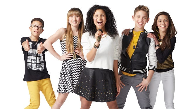 Matt (from left), Ashlynn, Jayna, Grant and Bredia are the Kidz Bop kids.