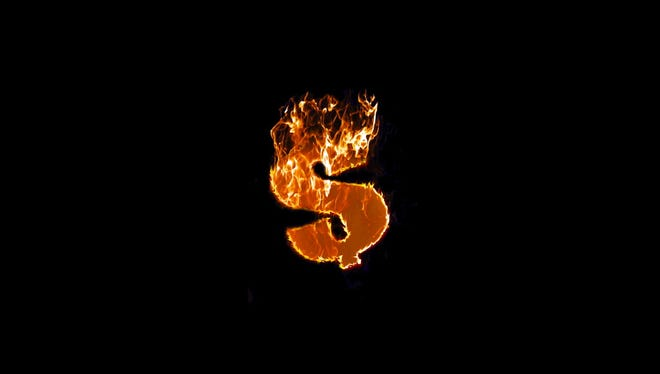 Fire dollar sign, isolated