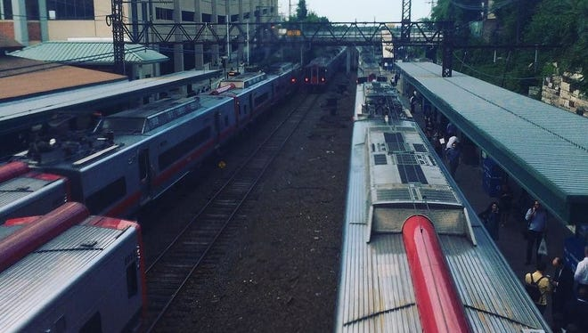 The Stamford/New Haven line is delayed in both directions because of trespassers on the tracks. Trains are log jammed at New Rochelle train station.