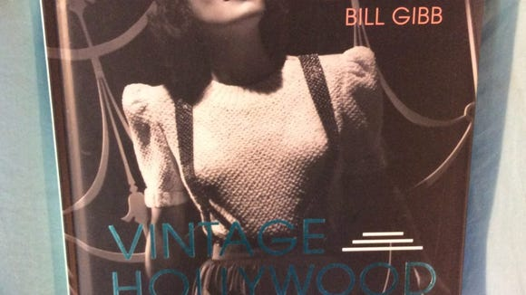 """Joan Crawford graces the cover of """"Vintage Hollywood Knits"""" by Bill Gibb."""