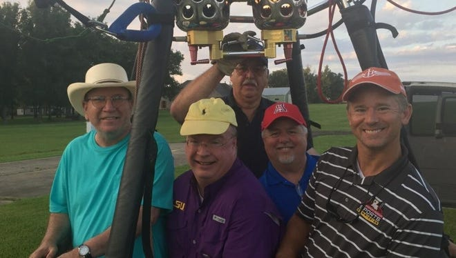 A hot air balloon ride earlier in 2016 included Kirby Kelly, Pat Harwell, Kelly Wells and Randy Brown.