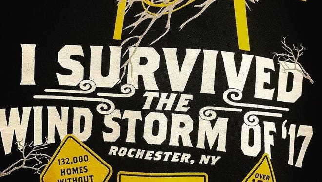 Wegmans Food Markets started selling hoodies last Friday to commemorate the Wind Storm of '17.