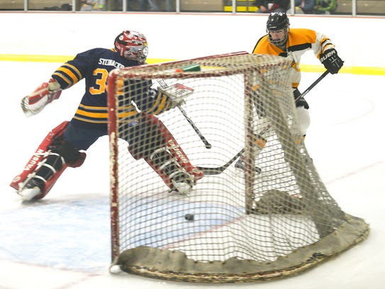 The Battle Creek Bruins JV team in action earlier this