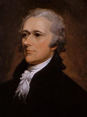 Alexander Hamilton portrait by John Trumbull