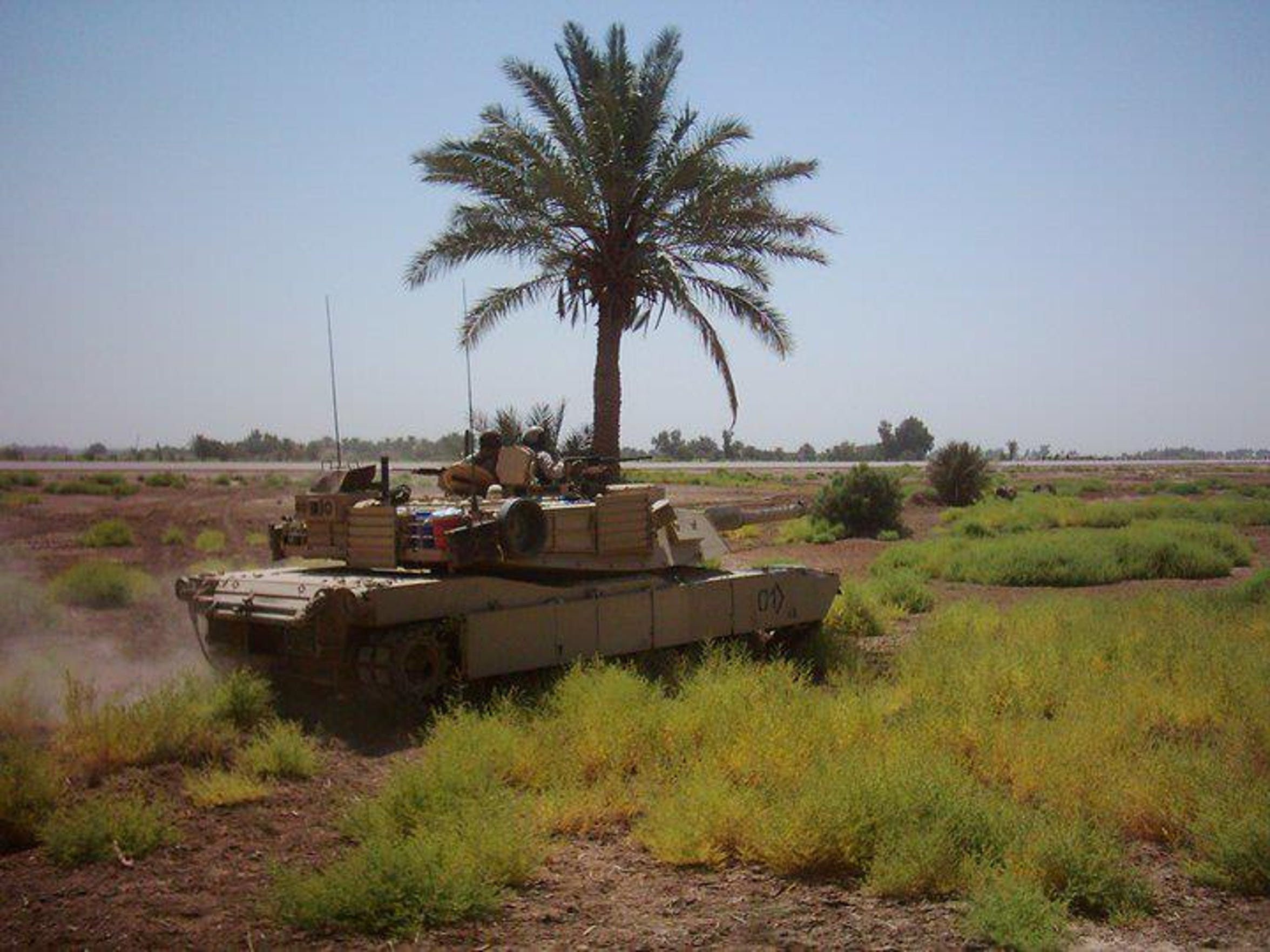 An Abrams M1A1 tank in Iraq.