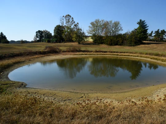 This farm pond is located off Watt Road at Harrison