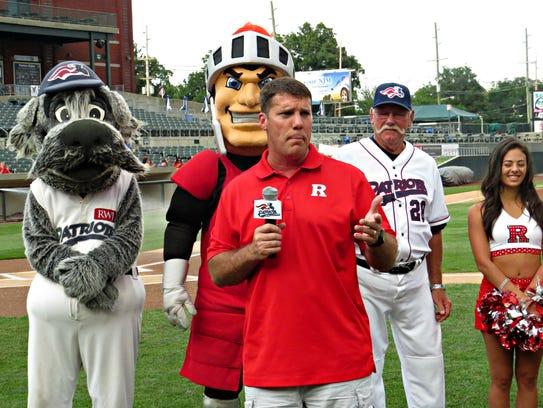 Rutgers University football coach Chris Ash addresses