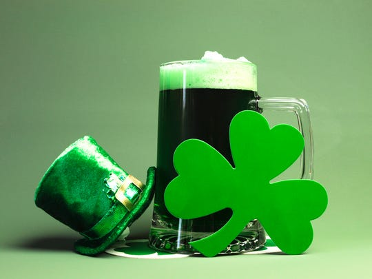 For St. Patrick's Day, pick Irish whiskey, Irish cider, Irish coffee, Irish cream liqueur. Oh, and Guinness. Lots of lots of Guinness.