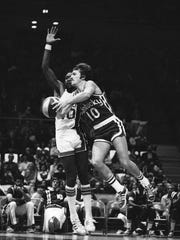 The Kentucky Colonels' Louie Dampier shown here Nov.