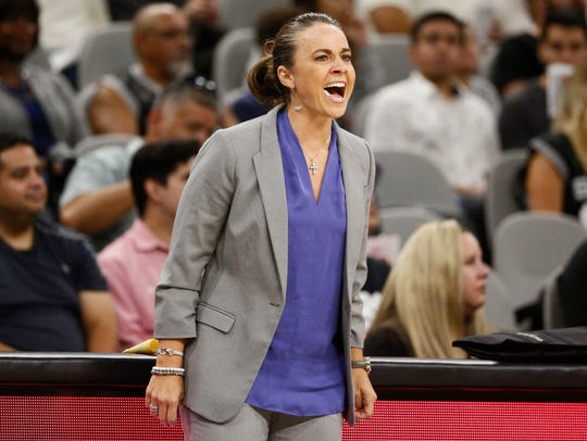 Becky Hammon, an assistant coach with the San Antonio