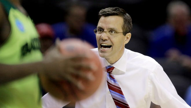 Nebraska coach Tim Miles was ejected from his team's first NCAA tournament game, a loss to Baylor.
