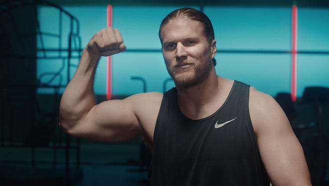 Green Bay Packers linebacker Clay Matthews puts some serious muscle in his new ads with Sasquatch for Jack Link's jerky.