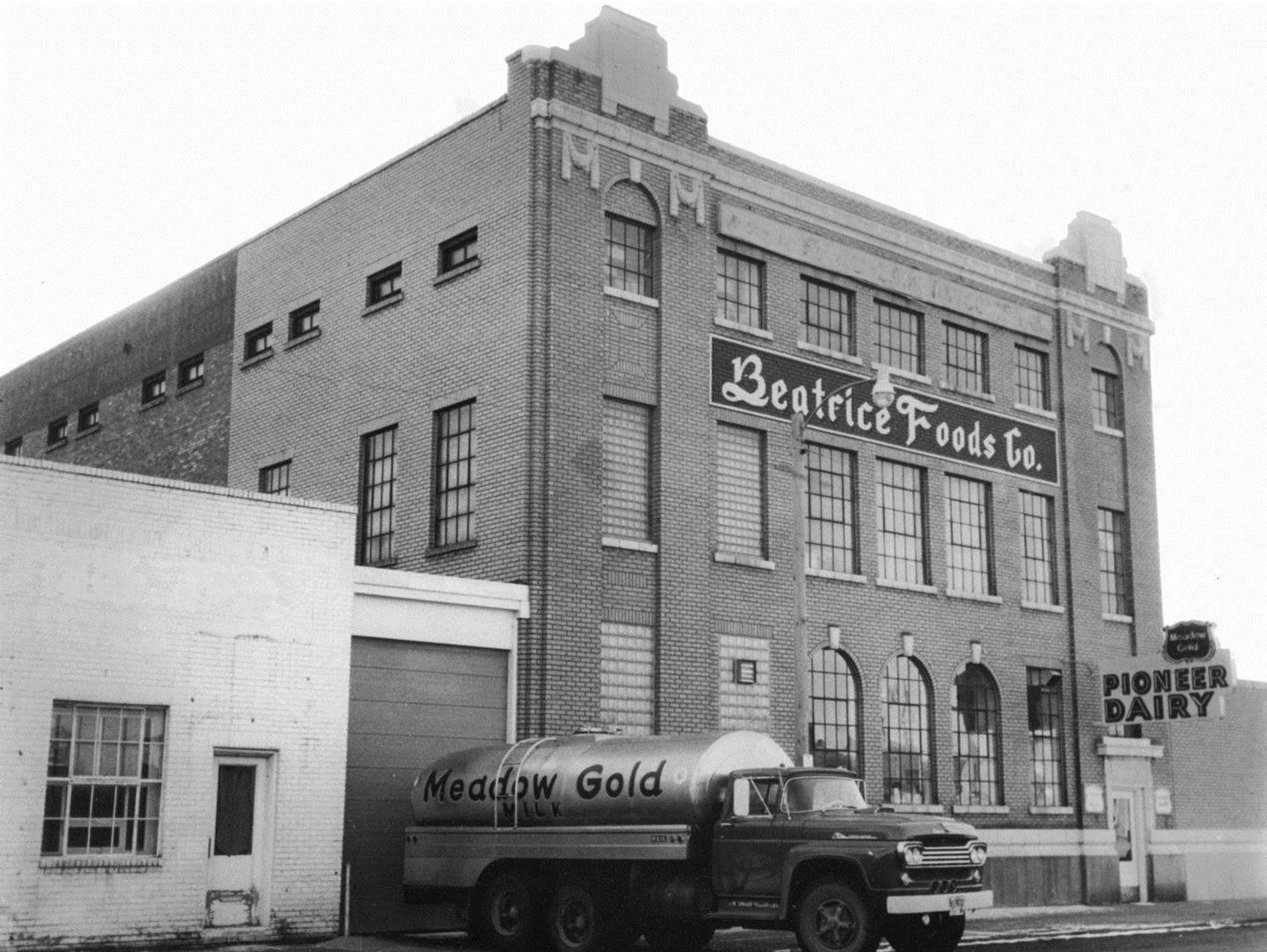 Milk is delivered to the Meadow Gold Dairy in Great