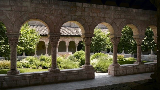 The Cuxa Cloister, modeled after a section of a medieval monastery in France, is on view year-round at The Cloisters, in Fort Tryon Park in upper Manhattan.