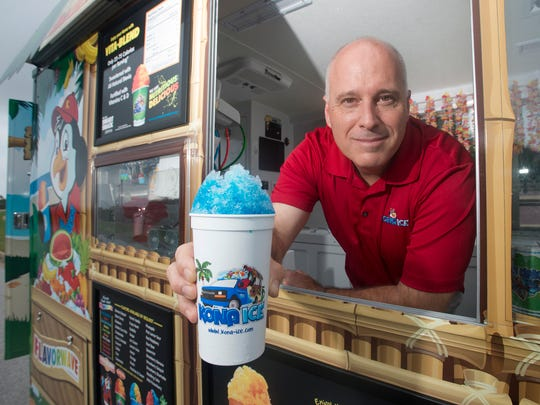 Having served his country for more than two decades, Navarre resident Russ Bartlett launched a shaved ice business that has generated more than $65,000 since 2013 for community fundraisers.