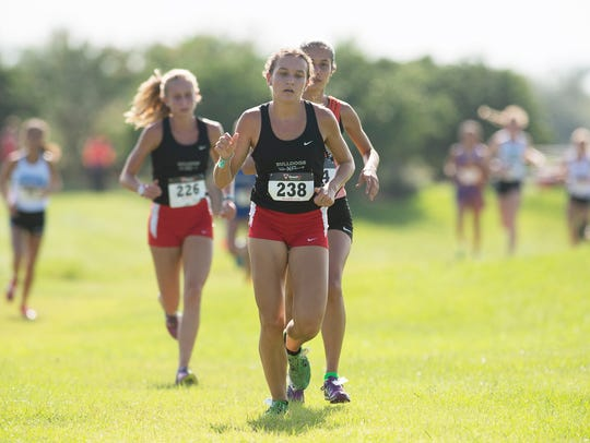 South Fork's Katrina Wynne competes Thursday, August