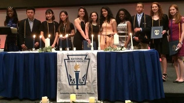 Students from Faith Christian Academy in Poughkeepsie who were recently inducted into the National Honor Society.