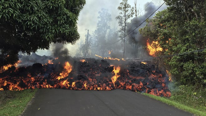 The volcano Kilauea has destroyed homes and roads since it began spewing lava last week, and residents who fled don't know how long they might be displaced.