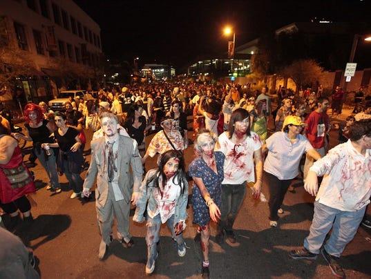 Demasiados zombies en Arizona para una marcha zombie