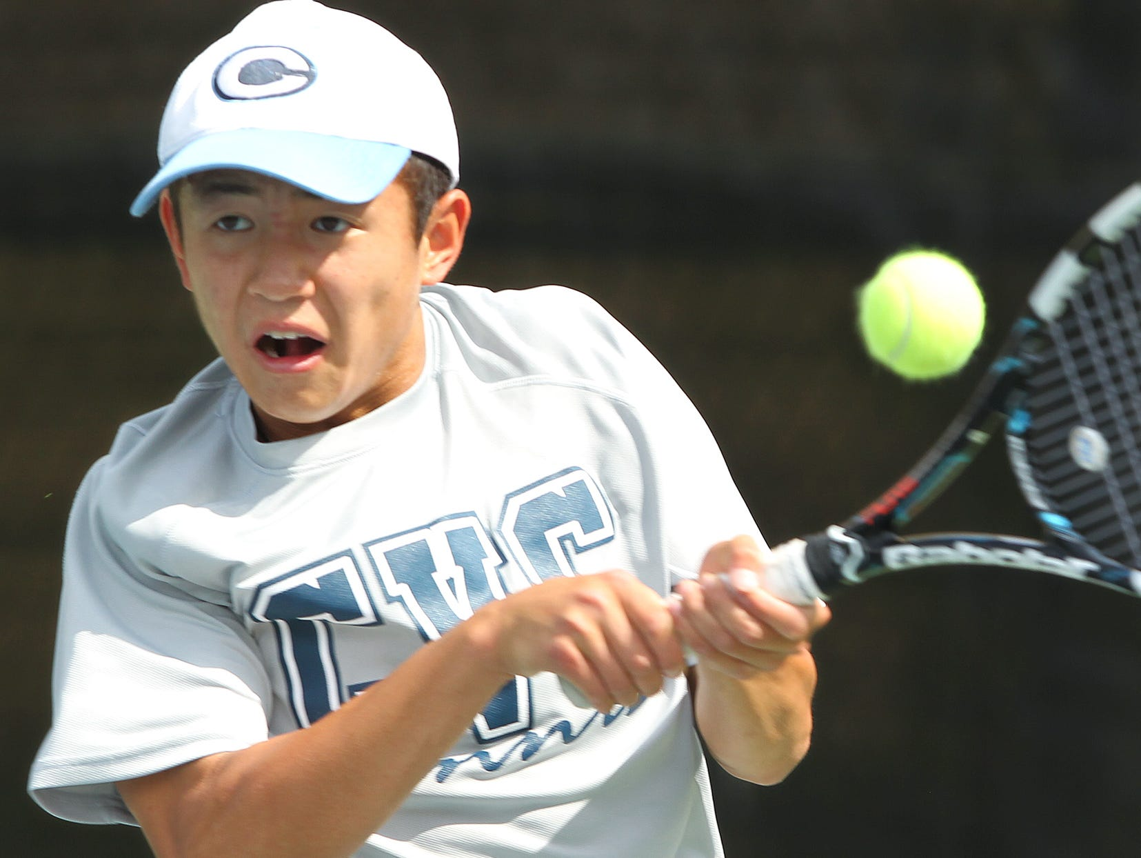 CVC's Bailey Gong defeated Immanuel's Aaron Reimer during the Central Section Division III title match Wednesday.