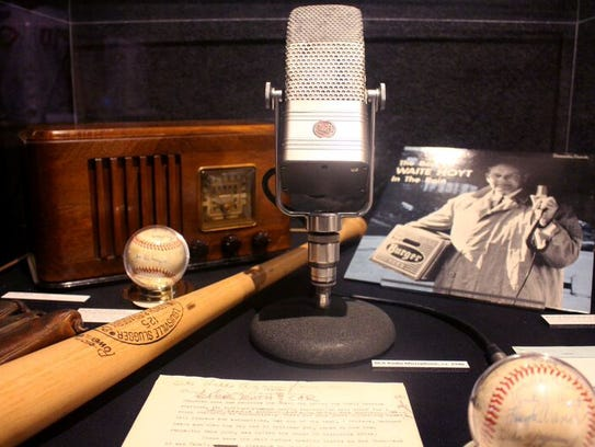 Items related to Waite Hoyt's broadcasting career are