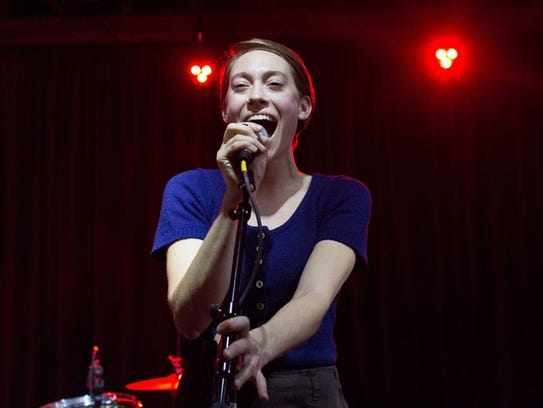 Anna Burch performs with Frontier Ruckus at the Marble Bar in Detroit in 2015. She's now released a much-buzzed about solo album.