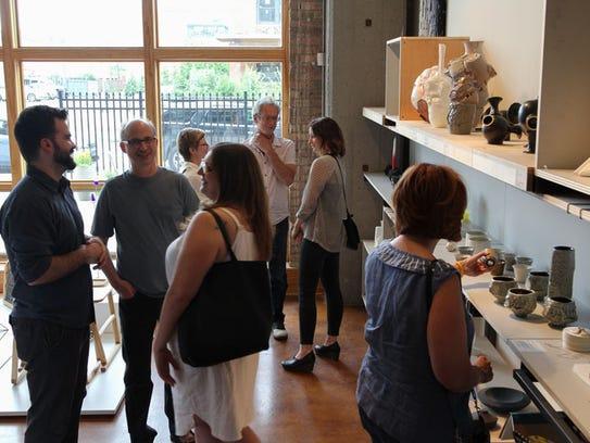 Midtown art dealer Simone Desouza celebrated the launch
