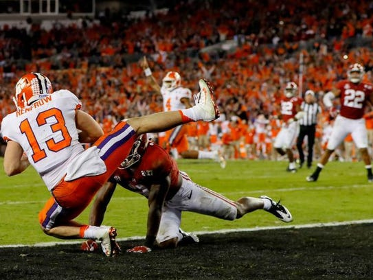 Wide receiver Hunter Renfrow of the Clemson Tigers