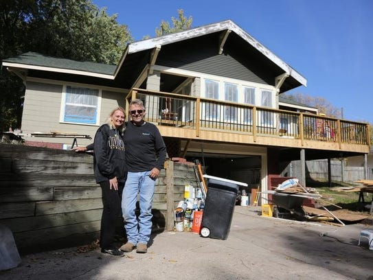 John and Michelle Hutchcroft are renovating a home