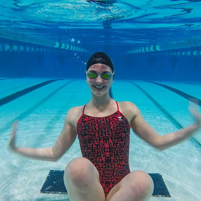 Elgin sophomore Madison Linstedt will swim this week