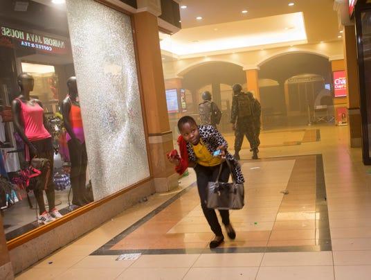 Kenya mall attack running