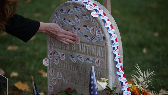 The Election Day tradition of placing 'I Voted' stickers