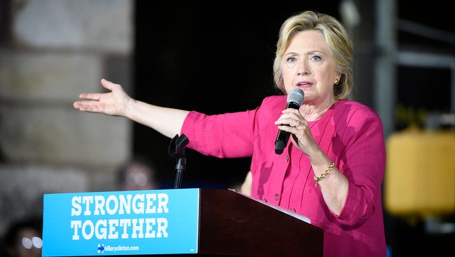 "The Hillary Clinton/Tim Kaine ""Stronger Together"" tour stopped in Harrisburg Friday, June 30, just one day after the 2016 Democratic Convention in Philadelphia. Democratic nominee Hillary Clinton speaks to audience members who gathered at the Broad Street Market to hear her speak."