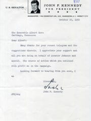 Letter from Kennedy to Albert Gore.